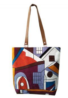 Τσάντα ώμου σπίτι-πόλη