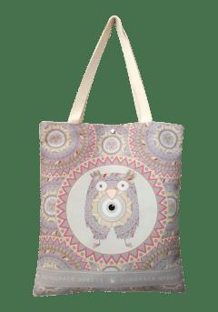 Τσάντα ώμου κουκουβάγια-μάτι ροζ