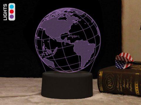 Λάμπα 3D Globe World - iTotal