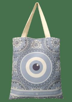 Τσάντα ώμου κουκουβάγια-μάτι γκρι