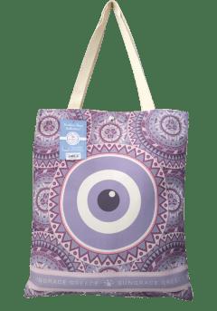 Τσάντα ώμου κουκουβάγια-μάτι μωβ
