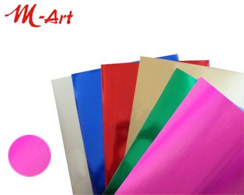 Χαρτόνι Μεταλλιζέ 50Χ70 ροζ