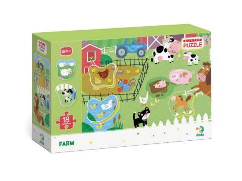 Puzzle Στη φάρμα 18τμχ - Dodo