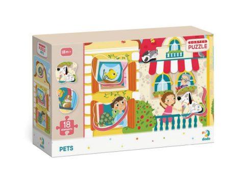 Puzzle Ζωάκια στο σπίτι 18τμχ - Dodo