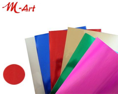 Χαρτόνι Μεταλλιζέ 50Χ70 κόκκινο