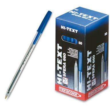 Στυλό διαρκείας με καπάκι μπλε Hi-Text