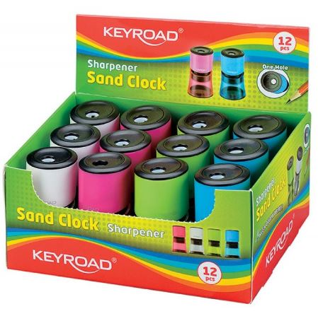 Ξύστρα κυλινδρική μονή sand clock -Keyroad