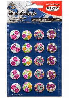 Κουμπιά πλαστικά μικρά εμπριμέ - Meyco