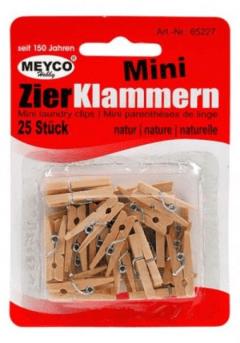 Μανταλάκια ξύλινα οικολογικά μίνι σετ 25τμχ -Meyco