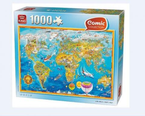 Puzzle Παγκόσμιος χάρτης 1000τμχ King