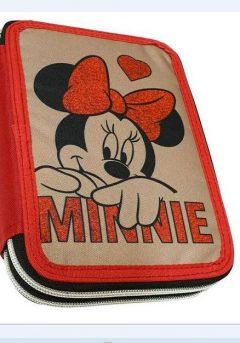 Κασετίνα διπλή γεμάτη Minnie Suede - Gim