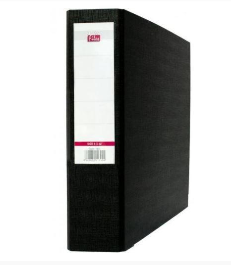 Κουτί αρχείου με λάστιχο fiber ράχη 12cm - Salko