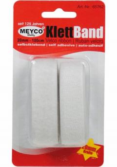 Ταινία velcro λευκή αυτοκόλλητη 20mmX1m - Meyco