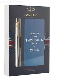 Jotter Core Ασημί-Χρυσό Στυλό με Notepad Parker