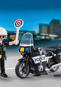 Βαλιτσάκι Αστυνόμος με μοτοσυκλέτα - Playmobil