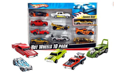 Hot Wheels Αυτοκινητάκια set των 10τμχ- Mattel
