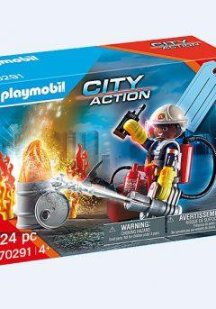 Gift set : Πυροσβέστης με αντλία - Playmobil