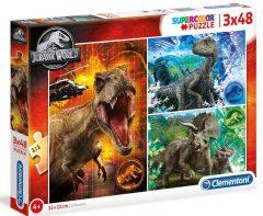 Puzzle Jurassic World 3x48τμχ - Clementoni