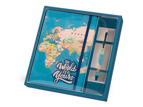 Σημειωματάριο σετ Blue Maps – Total Gift