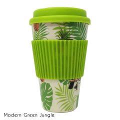 Κούπα Bamboo Modern Green Jungle