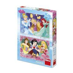 Puzzle Τριανταφυλλένιες Πριγκίπισσες 2Χ77τμχ - Dino toys