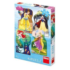 Puzzle Πριγκίπισσες και φίλοι 4χ54τμχ – Dino toys