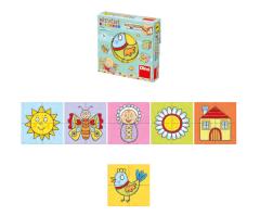 Puzzle Ξύλινοι Κύβοι 4τμχ - Dino toys