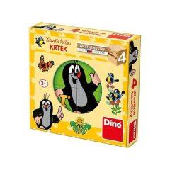 Puzzle Ξύλινοι Κύβοι Τυφλοπόντικας 4τμχ – Dino toys