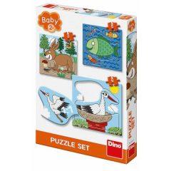 Puzzle Που ζούνε τα ζώα 3-5τμχ - Dino toys