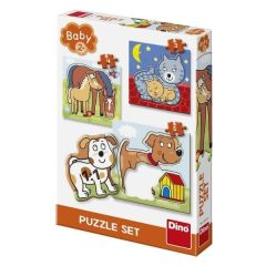 Puzzle Τα ζωάκια μας 3-5τμχ - Dino toys